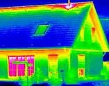 A Home's Heat Loss is visible with Thermal Imagery