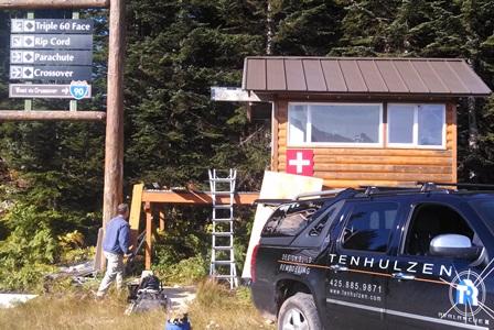 Ski Patrol bump shack