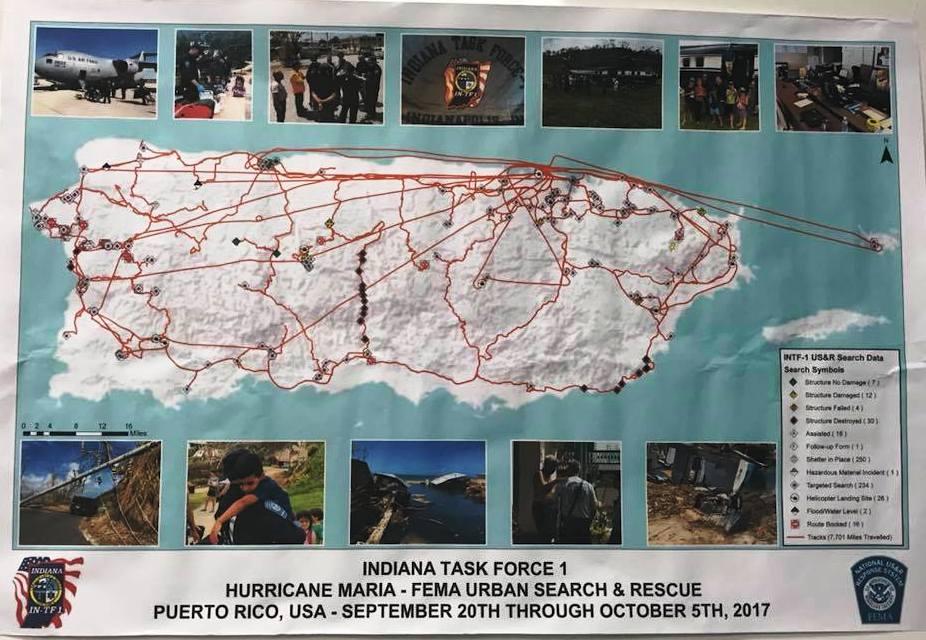 Puerto Rico response map